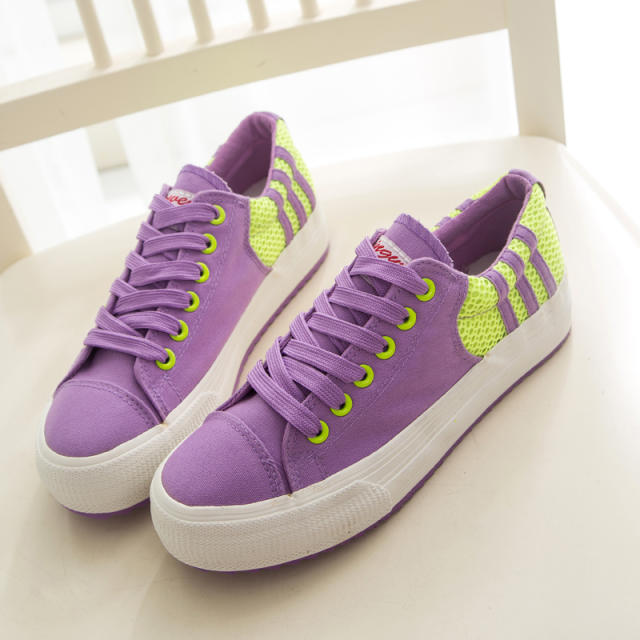 2014 new students to help low canvas shoes women shoes Korean version of the candy-colored casual shoes
