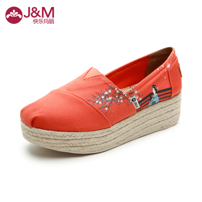 Mary happy new spring and summer fashion casual sets foot canvas shoes to help low end hemp shoes 81015W-7