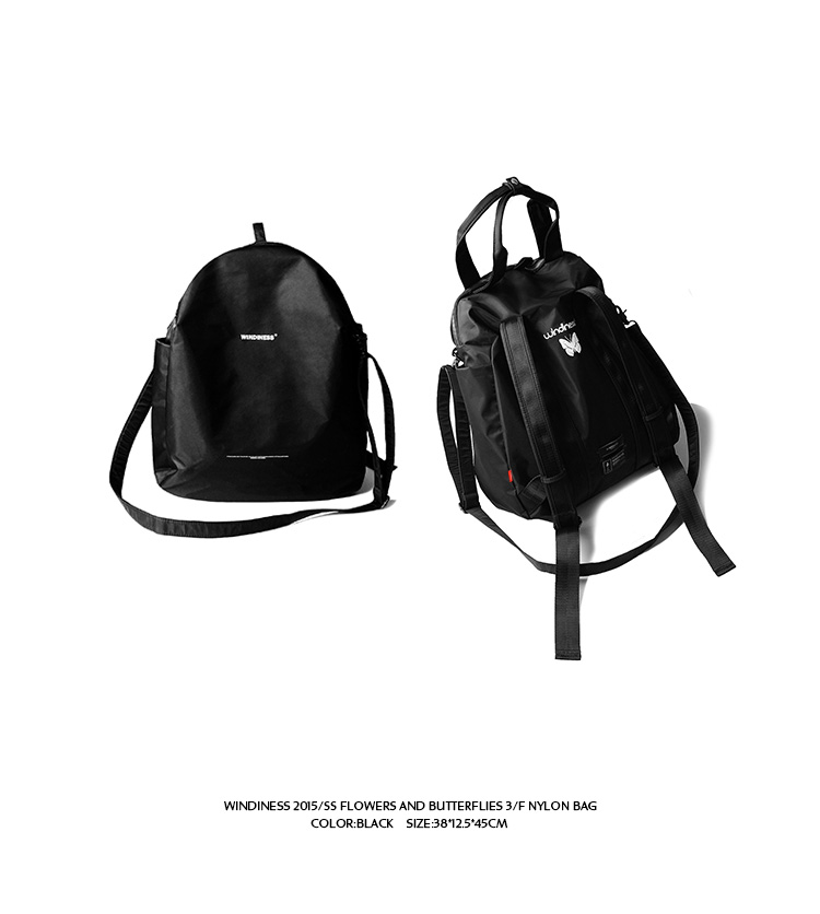 WINDINESS 2015 S/S  3/F NYLON BAG 三用功能包