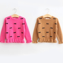 Children with girls long-sleeved sweater render the 2-3-4 - year - old 6-7 kid joker sweater 2015 girls in the spring and autumn day