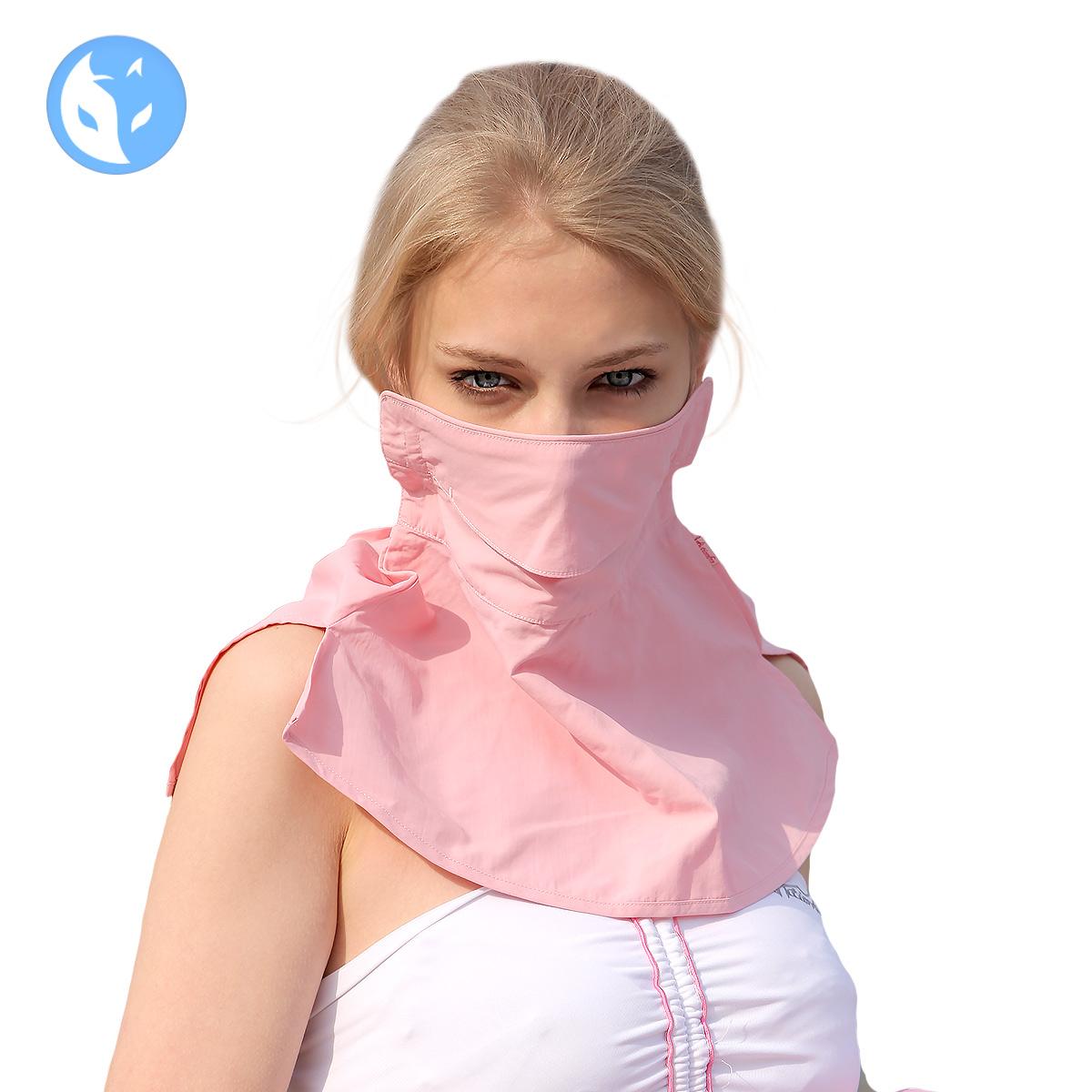 快乐狐狸夏季女士防晒口罩 透气护颈户外口罩 女防紫外线面罩3342