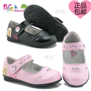 芭比2014春女童鞋小童时尚公主单鞋方口二层皮鞋A