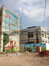 Beijing hand-painted wall painting, hand-painted murals murals kindergarten, school, animated cartoon color hand-painted murals