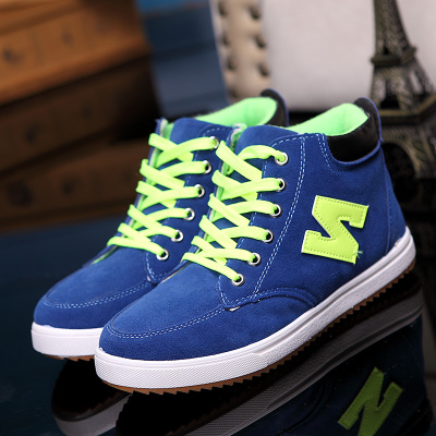 Winter Korean version of the trend of matte men's casual shoes sport n word youth shoes men warm nb high Kunio shoes