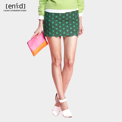 eni: d Korean version of the retro pattern Slim wild type A bust skirt base skirt female models 1248505