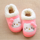 Cat child models baby warm cotton slippers home package with children winter shoes 2 pairs free shipping nationwide