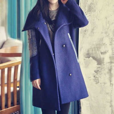 Special seats 2014 winter new Korean Women thick woolen coat and long sections loose woolen wool coat