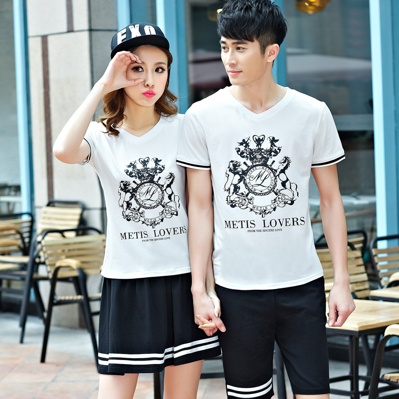 2018年新款韩版情侣装卫衣短袖