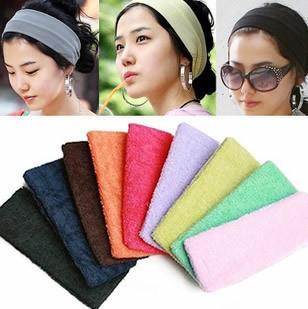 特价 糖果色毛巾发箍 发饰运动瑜伽健身发带均色 韩国宽头套 多彩
