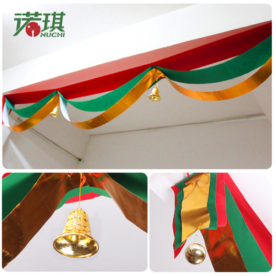 Nuoqi wavy flag bunting hanging Christmas banners flag flags corridor hotel window decoration Christmas decoration