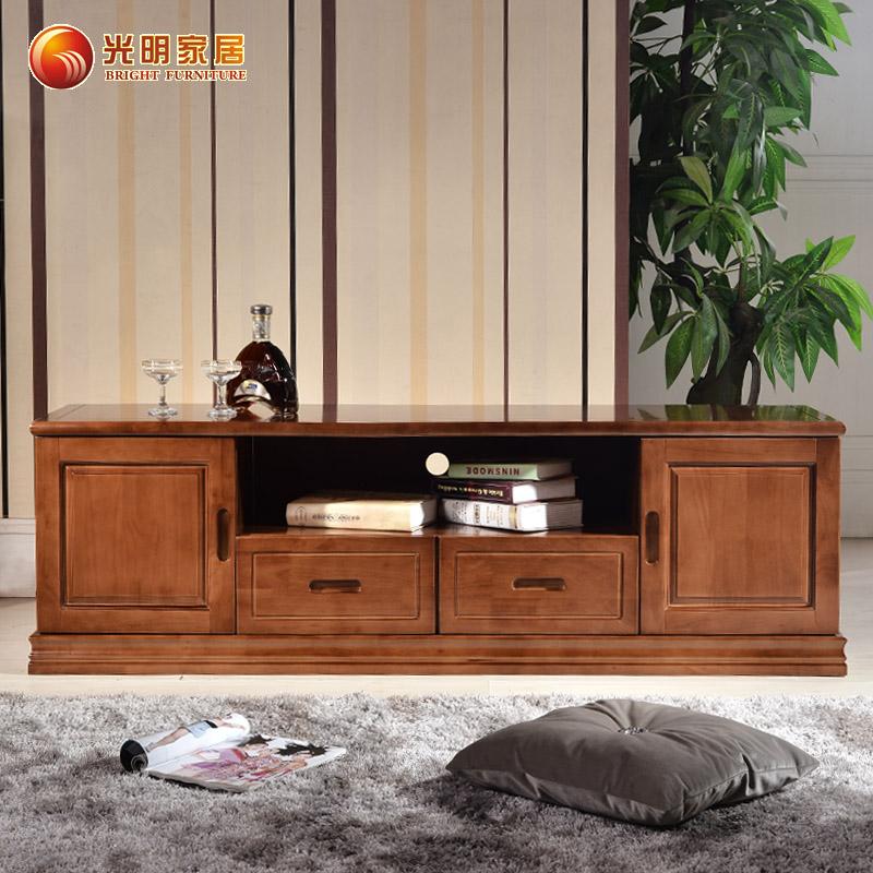 康莲贝贝 实木电视柜客厅茶几组合橡木地柜简约矮柜小户型储物柜