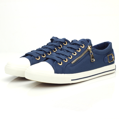 Fei Yao Qiu Zip fashion student Men canvas shoes Korean tide to help low breathable shoes casual shoes N153