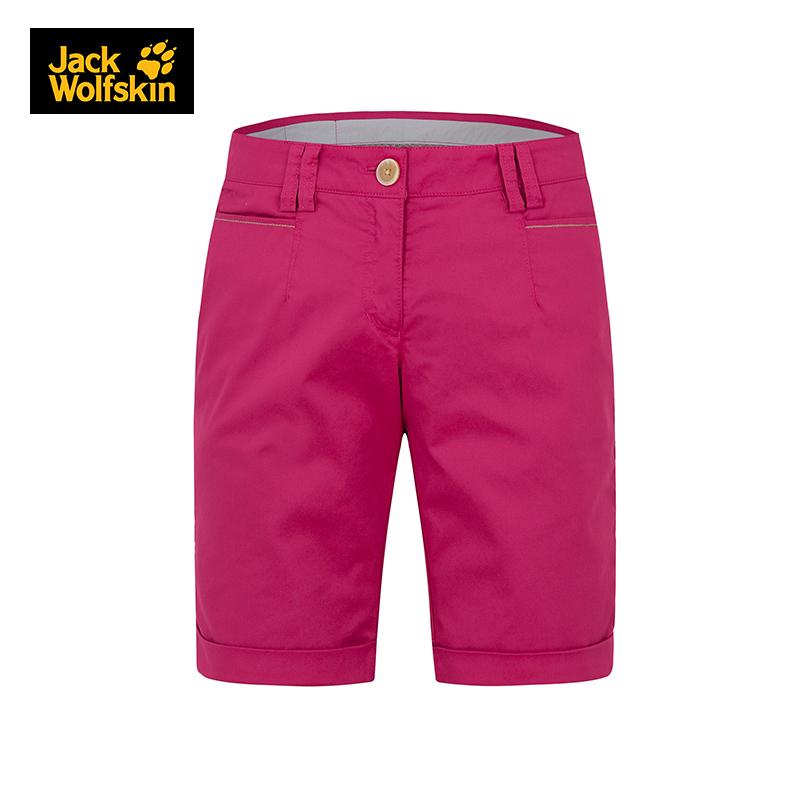 Jackwolfskin狼爪户外短裤女薄款夏季女士透气休闲裤短裤1503151