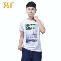 361度运动短袖t恤男夏季361纯棉圆领休闲薄款宽松透气运动装潮CJ