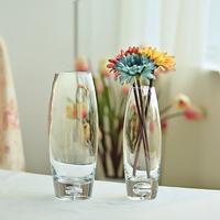 欧式透明玻璃花瓶水培富贵竹百合玫瑰插花瓶创意简约家居花器摆件