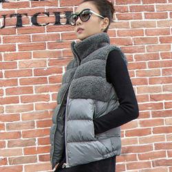 雪纤休闲棉马甲女士坎肩冬季新款加厚外套背心无袖马夹大码显瘦潮
