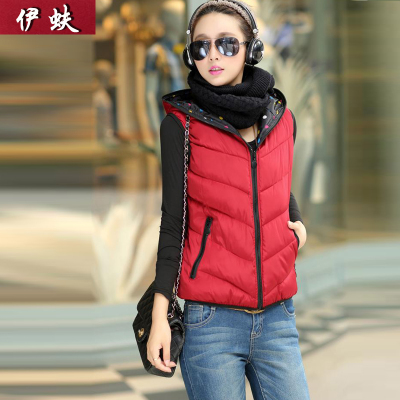 Iraq beetle fall and winter clothes new fat MM XL thick cotton hooded vest Ms. Vest waistcoat