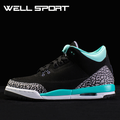 aj future low黑红_wel运动 Air Jordan 3 GS Tiffany AJ3 蒂芙尼 441140-045