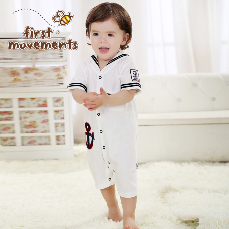 Bobcat baby Jumpsuit Rompers Boy's short sleeve summer clothing 0-1 years Kids  Taobao Agents