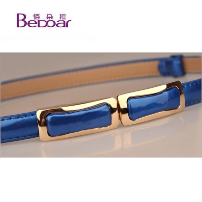 Bai Dora new Korean wild leather lacquer belt bag lady fashion women buckle belt female models