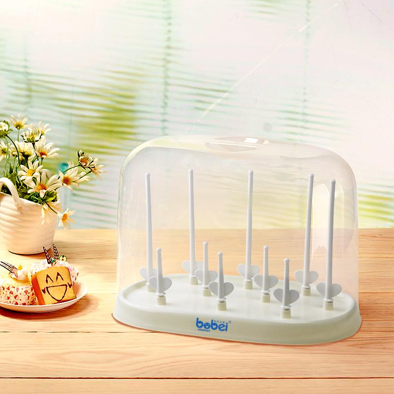 邦贝小象奶瓶架晾干架沥水干燥架子宝宝婴儿凉干燥箱防尘盖BZ3027