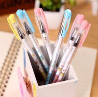 创意韩国文具 卡通慕斯蛋糕主题中性笔全针管0.38黑色笔芯水性笔