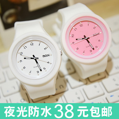 Korean students jelly watch genuine female form and fashion watch waterproof fluorescent creative men and women couple watches