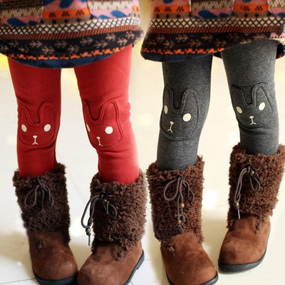 Kids Spring 2014 Korean version of the new children's baby plus thick velvet leggings girls winter cotton pants, boots, pants