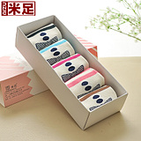 M Foot socks in tube socks female socks lady bow gift box free shipping