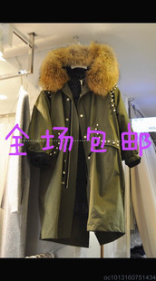 2015秋冬韩国东大门代购棉服大衣外套中长款修身加厚毛毛领冬装女