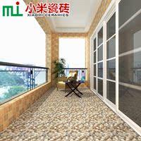 小米瓷砖 阳台仿古砖花园防滑地砖300x300鹅卵石阳台地板砖 S3317