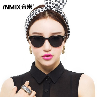 inmix sound meter 2014 new lady fashion sunglasses half frame sunglasses retro round sunglasses tide