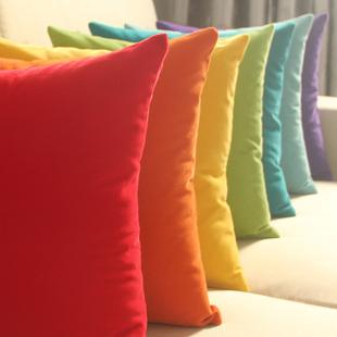 纯色沙发抱枕床头大靠背套办公室靠垫汽车靠枕含芯腰枕包邮