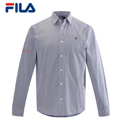 FILA Fila genuine 2014 winter new men cultivating cotton plaid long-sleeved shirt   25433401