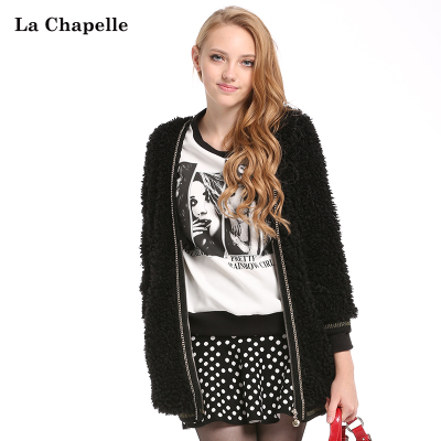 La Chapelle 2014 new women's winter fashion loose it hit color coat 10006481