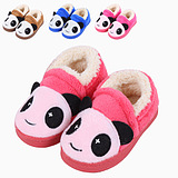 The new children's shoes cute boys and girls winter shoes slippers bag with cartoon panda slippers paternity