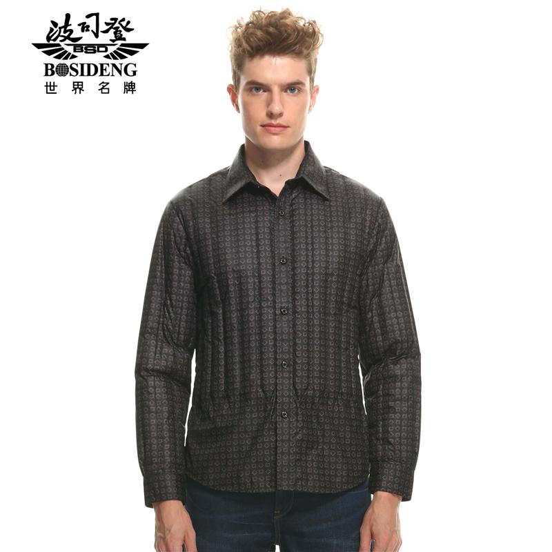 【商场同款】波司登 时尚男士欧美保暖羽绒衬衫B1401613