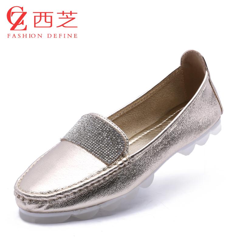 女士真皮平跟鞋_平底单鞋搭配_鞋女平底_平底单鞋女_平底软皮鞋