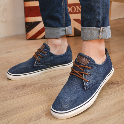 Men Fall breathable canvas shoes men's shoes tide shoes Korean version of the trend of British men's casual shoes to help low shoes