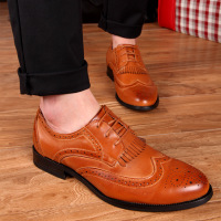 2015 man business leather shoe breathable retro shoes formal