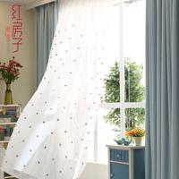 [免加工]现代简约亚麻窗帘遮光棉麻纯色加厚隔热卧室布艺定制窗帘