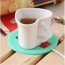 Usb heating cup mat Electric heating insulation base Constant warm milk machine Office tea cup insulation artifact