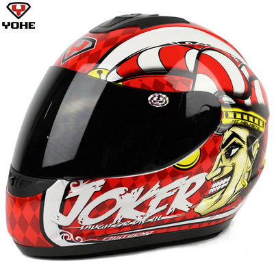 Free shipping Genuine Eternal helmet motorcycle helmet full helmet helmet YH-993 ran clown Joker