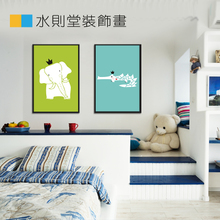 Modern children room hangs a picture Animal cartoon adornment picture MOE of small things Cute animals wall paint combination
