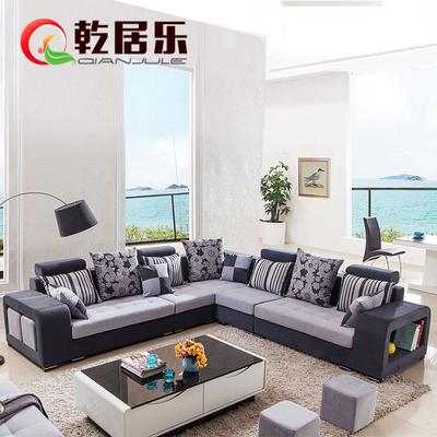 乾居乐简欧式现代组合布艺沙发sf 家具布沙发小户型沙发 2018#