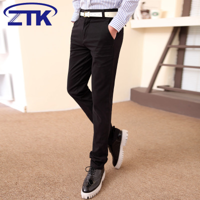 ZTK winter 2014 men's casual pants trousers Korean tidal Slim pants feet plus velvet pants trousers teenagers