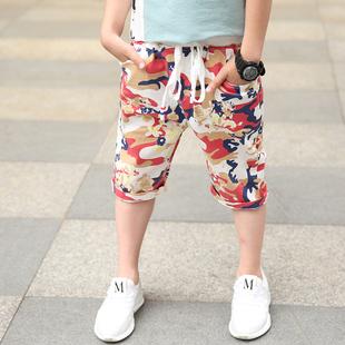 男童中裤短裤薄款夏装儿童裤子五分裤宝宝迷彩裤沙滩裤潮