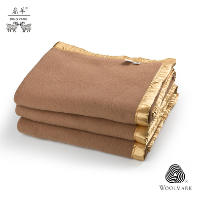 Tai Fu Ding Yang desert impression upscale continental Australia fine pure wool blankets on the bed blanket practical winter