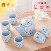特价景德镇日式陶瓷提梁壶茶具 红茶茶壶茶杯套装整套过滤壶包邮