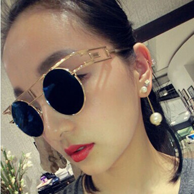 2014 new European and American fashion personality exaggerated big minimalist temperament long pearl earrings bridal jewelry female
